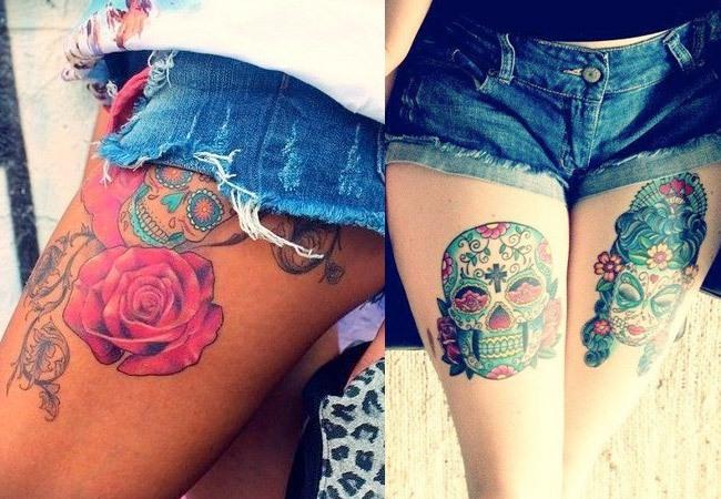 Tattoo máscara mexicana