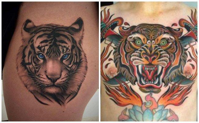 Tattoo de tigre en 3d