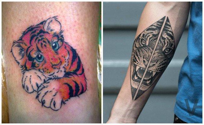 Tattoo de tigre oriental