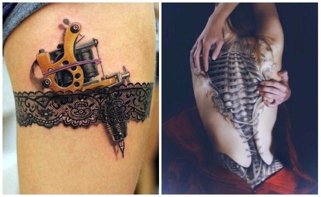 Tatuaje 3d en la espalda