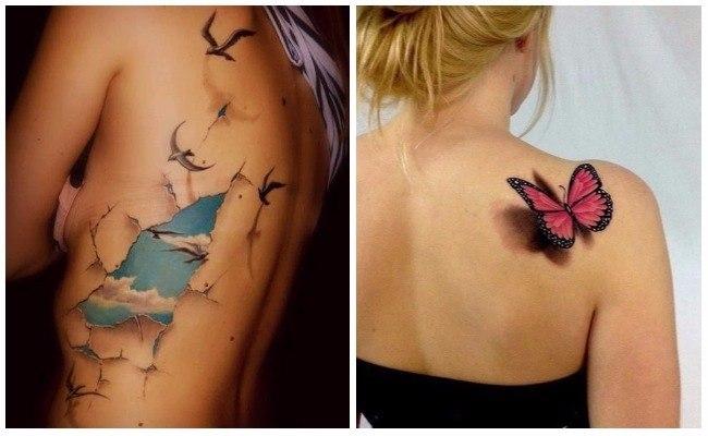 Tatuaje 3d nombres en el brazo
