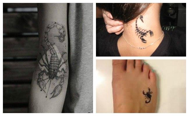 Tatuaje de alacrán en el brazo