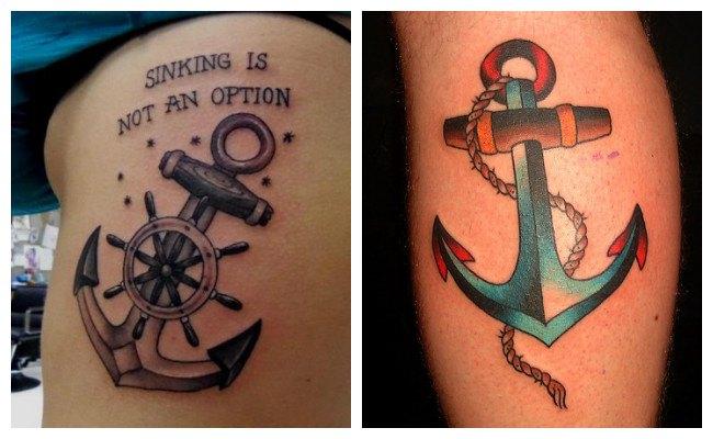 Tatuaje de ancla hipster