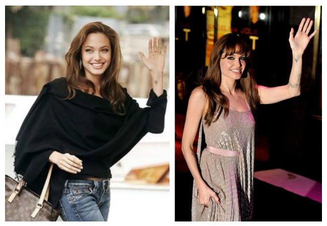Tatuaje runa en la mano de Angelina Jolie