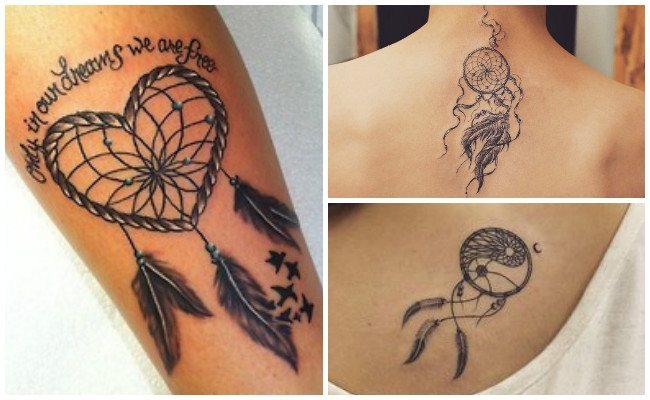 Tatuaje de atrapasueños con lobos