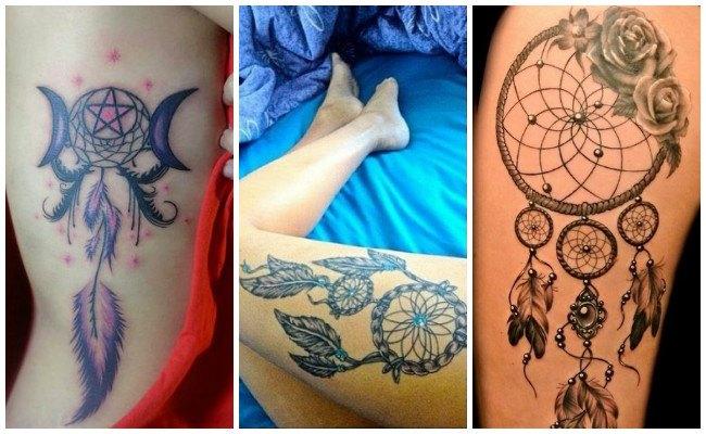 Tatuaje atrapasueños en la espalda hombre