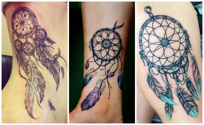 Tatuajes de atrapasueños en el pie