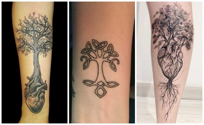 Tatuaje celta del árbol de la vida