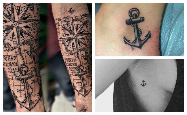 Tatuaje de ancla pequeño