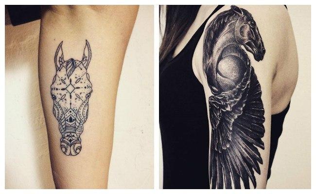 Tatuaje de caballos alados