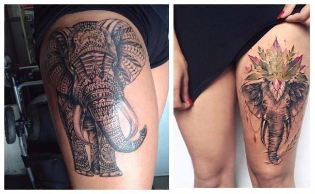 Tatuaje de elefante mandala