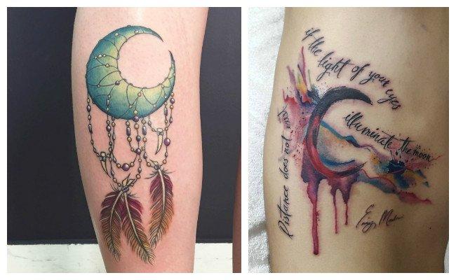 Tatuaje de luna creciente