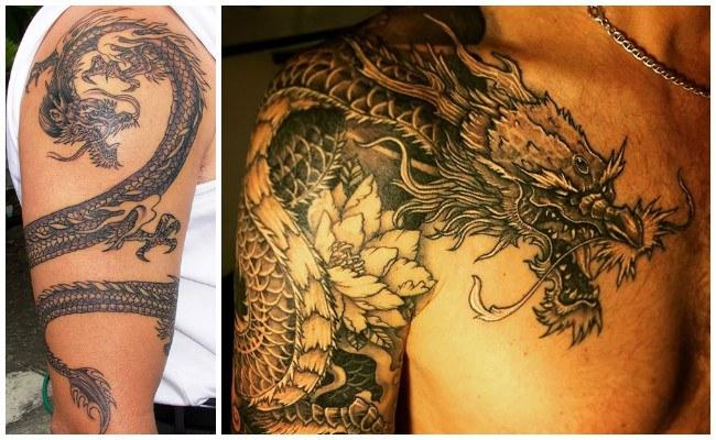Tatuaje de dragón en la mano