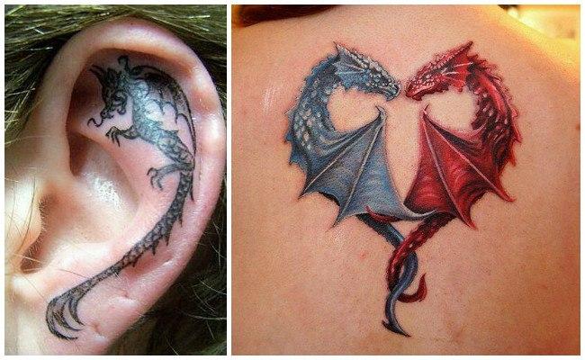 Tatuajes de dragón tribal