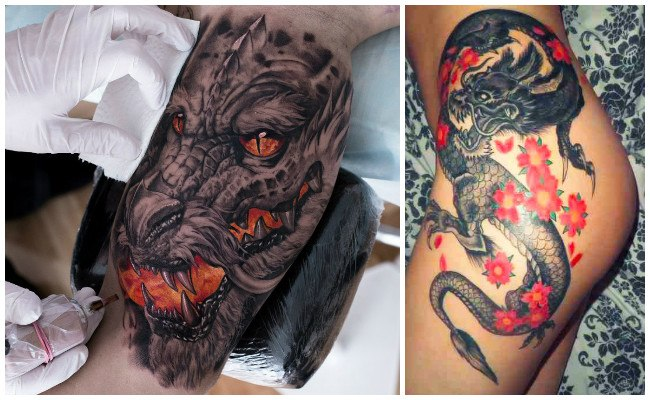 Tatuaje de dragones para mujer