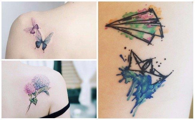 Tatuaje efecto acuarela