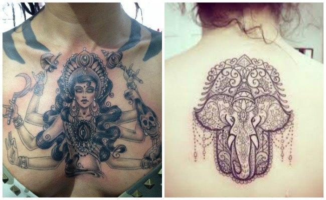 Tatuaje de elefante hindú