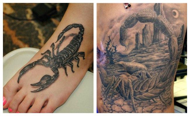 Tatuaje de escorpión rojo
