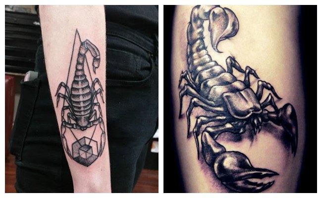 Tatuaje de escorpión tribal