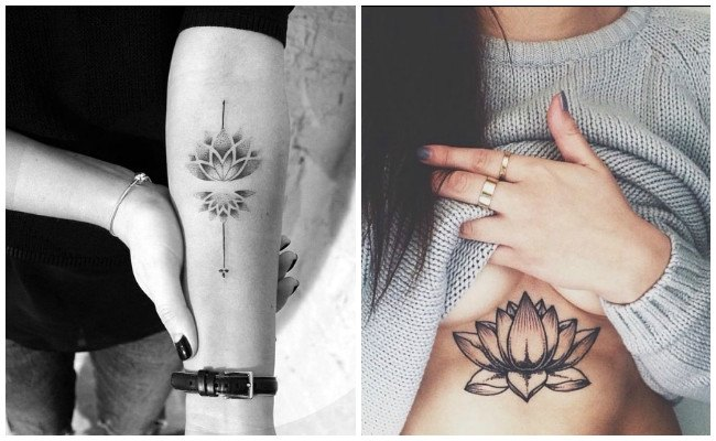 Tatuajes de flor de loto con enredaderas