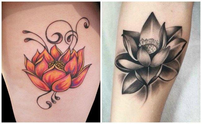 Tatuaje flor de loto en la muñeca