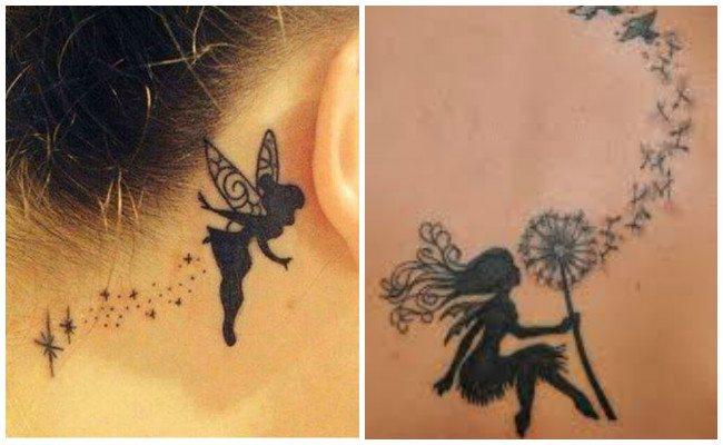 Tatuajes de hadas en mujer