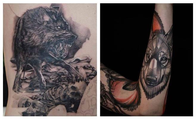 Tatuaje de manada de lobos