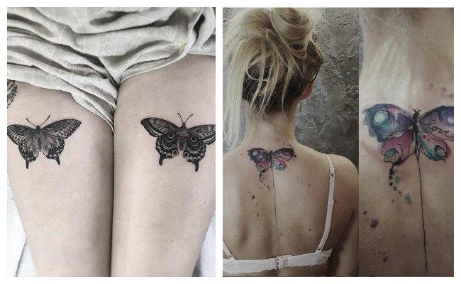 Tatuaje de mariposas bonitas