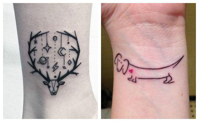 Tatuaje minimalista ciervo