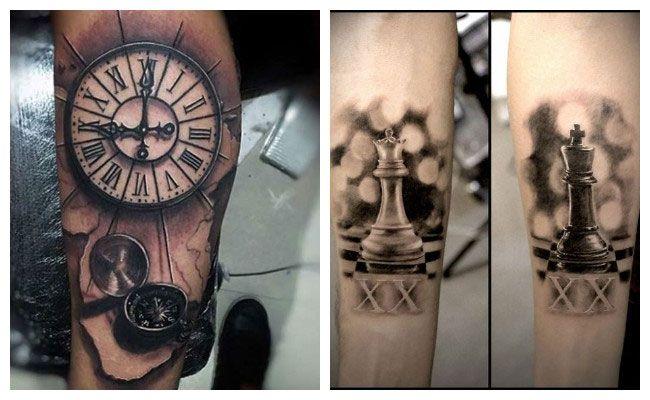 Tatuaje de números romanos en la pierna