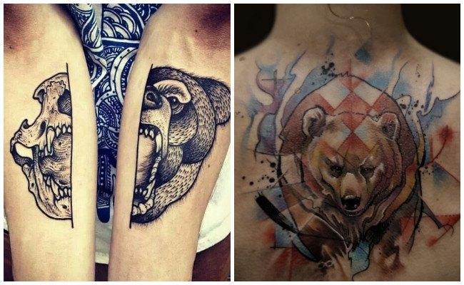 Tatuaje de oso en mujer