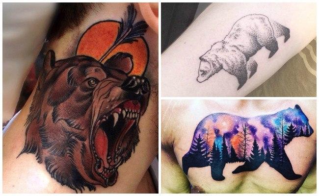 Tatuaje de oso tótem