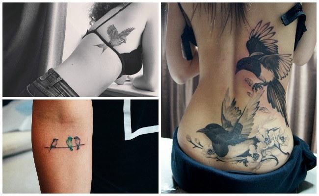 Tatuaje de pájaros para mujeres