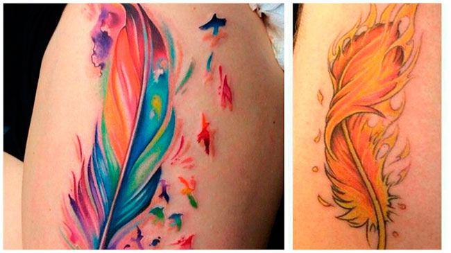 Tatuaje de pluma para hombres