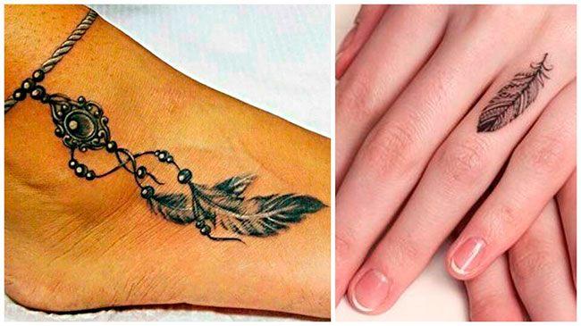 Tatuajes de plumas pequeñas