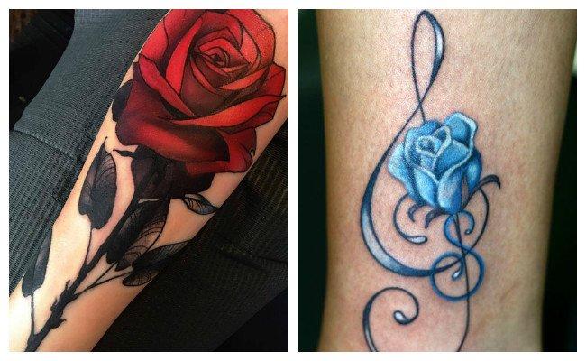 Tatuaje de rosa azul qué significa