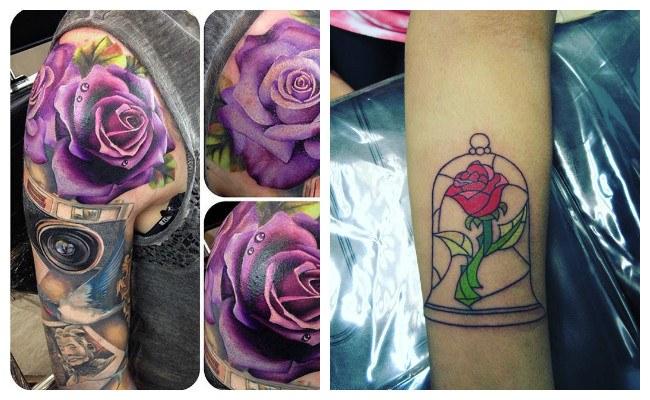 Tatuaje de rosas femeninas