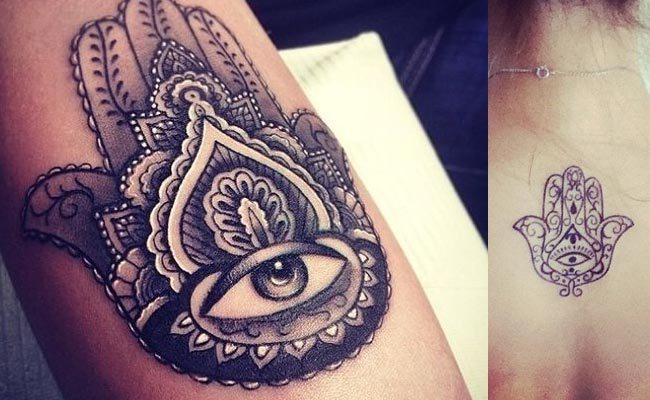 tatuaje sencillo de la Mano de Fátima