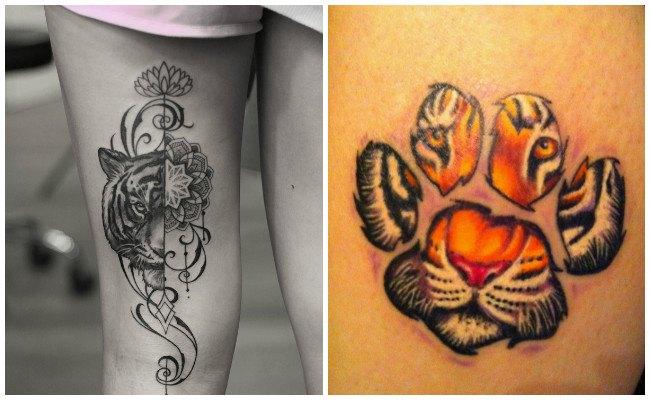 Tatuaje de tigre en el antebrazo