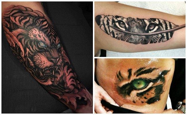 Tatuaje de tigre blanco