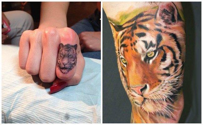 Tatuaje de tigre cachorro