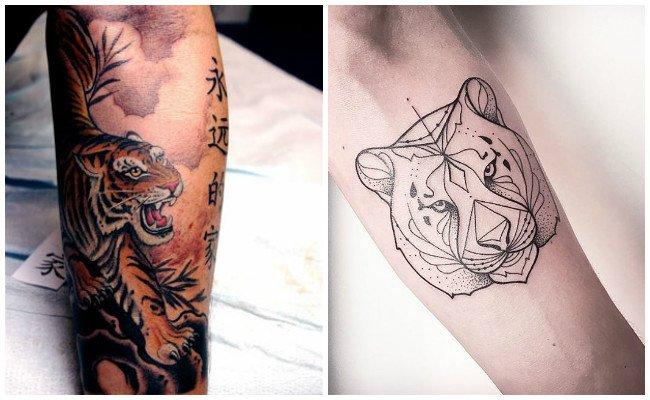 Tatuaje de tigre pequeño
