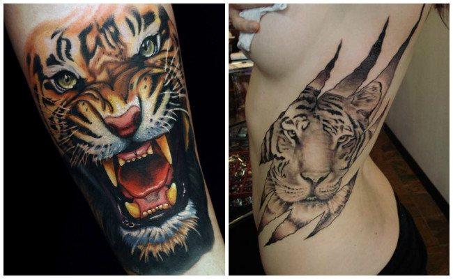 Imágenes De Los Mejores Tatuajes De Tigres Que Te Inspirarán