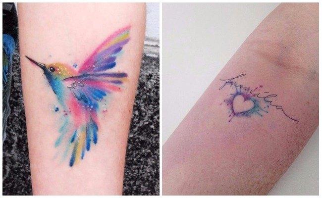 Tatuaje de tipo acuarela