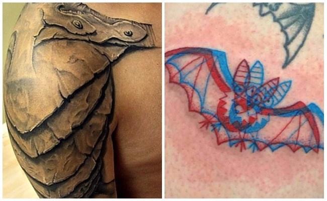 Tatuajes 3d en el hombro