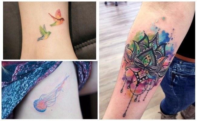 Desventajas de los tatuajes de acuarela