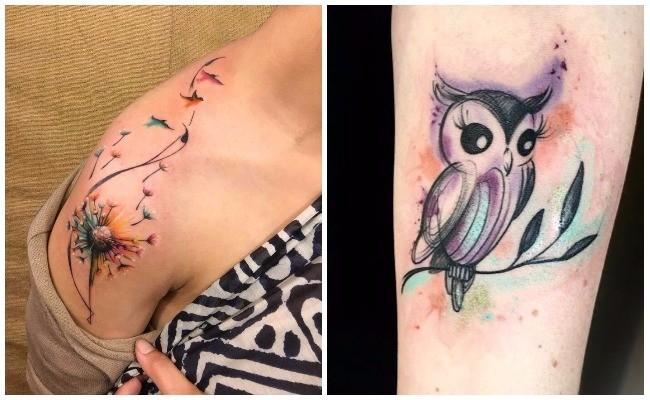 Duración del tatuaje de acuarela