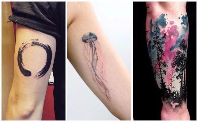 Tatuajes de acuarela infinito