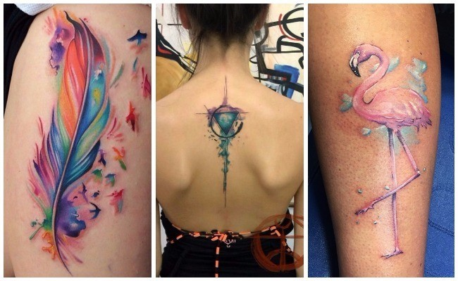 Tatuajes de acuarela para mujer