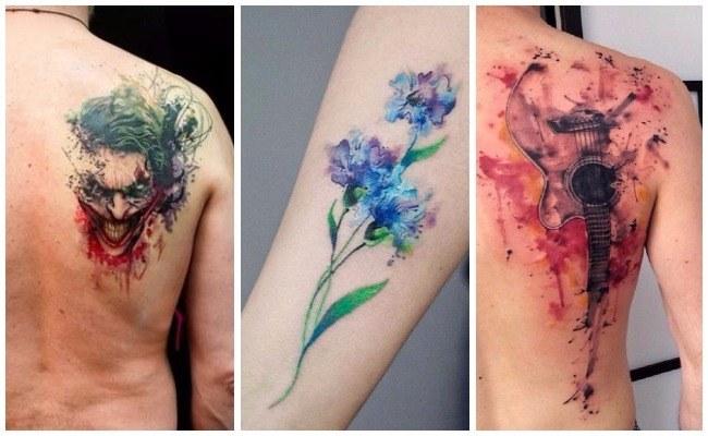 Tatuajes de acuarela pequeños